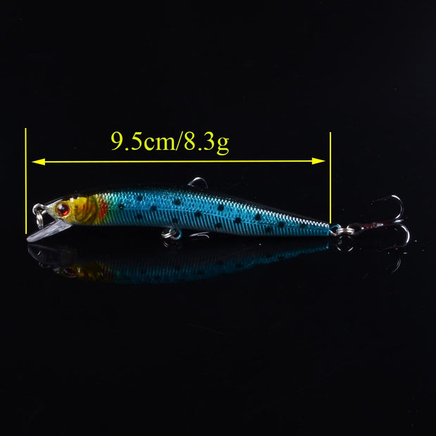 Mixed 5pcs/lot Fishing Lures 5 Different Model Hard Baits Artificial Lifelike Bass Crankbait Fishing Tackle Wholesale 3D Eyes