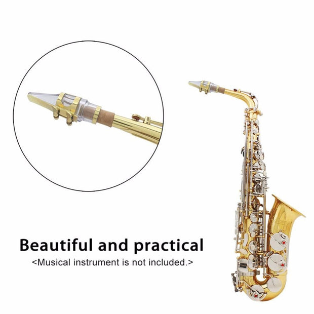 Mouthpiece Sax Alto Saxophone Transparent Mouthpiece + Clip + Reed + Cap Saxophone Accessories