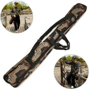 Multi-function Foldable Fishing Rod Bag Zipped Case Waterproof Fishing Bags Tackle Storage Bags Pouch Holder(120 Cm,Camouflage)
