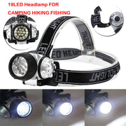 New 19 LED Bright Head Torch Light Lamp Camping Hiking Fishing Lightin Outdoor Sport Bike Bicycle Accessories Top Quality Oct 30