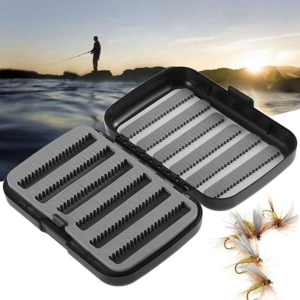 New 4 Layer Waterproof Fishing Tackle Boxes Fishhook Plastic Bait Storage Case Foam ABS Fly Fishing Lure Baits Fish Tackle Box