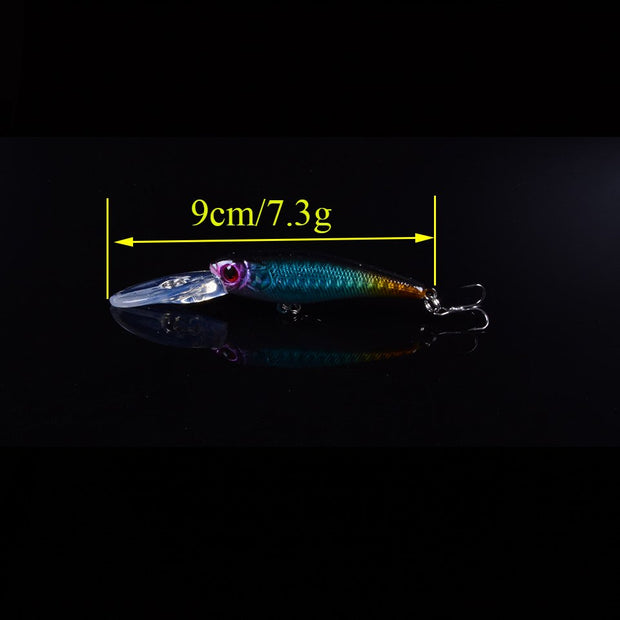 New 5pcs Mixed Fishing Lure Minnow Wobblers Hard Bait With Sharp Hooks Fishing Tackle Isca Artificial Bait Crankbait Swimbait