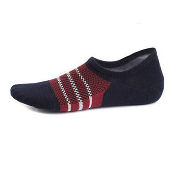 New Arrival 3 Pairs/Lot Men Socks Striped Mesh Low Socks Boat Socken Cotton Soft Thin Invisible Sock Blue,Black,Gray