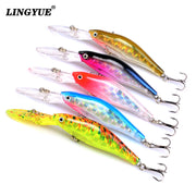 New Arrival 5PCS/Lots Minnow Fishing Lures 9cm/7g Hard Bait 5 Colors Available Tight Wobble Fishing Tackles 3DEyes Wholesale