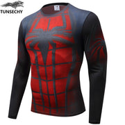 New Compression Shirt Men Marvel Avengers Superhero T Shirt Fitness Men Long Sleeve T Shirt Tee Shirts Tights Cycling Jerseys C