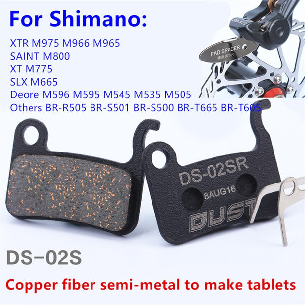 New Design Bicycle Disc Brake Pads Semimetal Bike Cycling Parts Accessories For M775 M595 M596 M965 M665