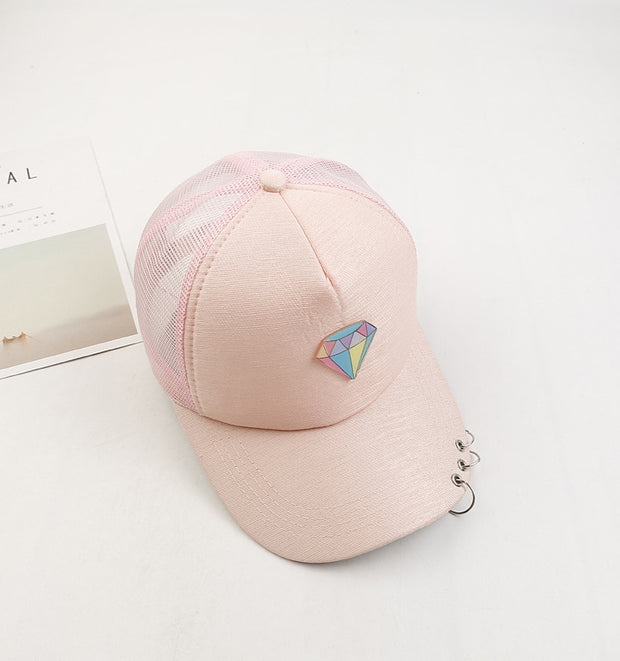 New Fashion Summer Personality Candy Color Acrylic Baseball Cowboy Protect Cap Sun Hat