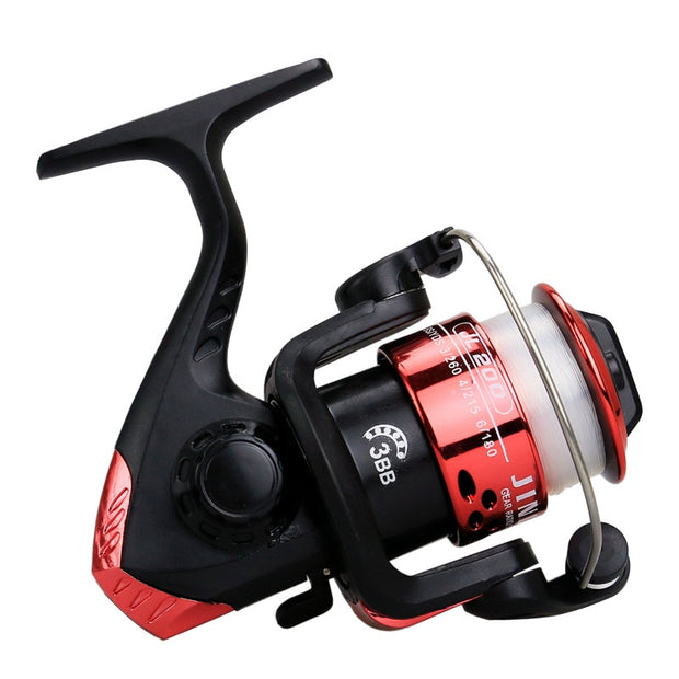 New High Speed G-Ratio 5.2:1Fishing Reels With Line Copper Rod Rack Drive Fish Tools Fishing Reals Aluminum Body Spinning Reel