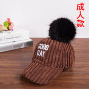 New Winter Corduroy Baseball Caps Men's And Women's Wool Hats Ball Letters Curved Caps Outdoor Leisure Sunhats Women Snapback
