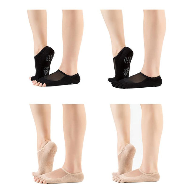 Non-Skid Yoga Socks Sports Equipment Open Toe Topper Socks For Women Half Socks Forefoot Padded Cushion Cozy Clothes