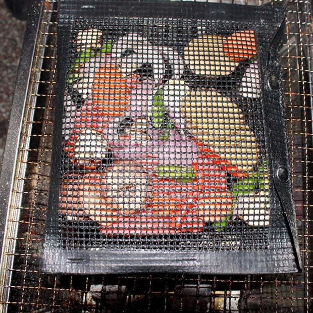 Non-Stick Mesh Grilling Bag BBQ Bake Bag Outdoor Picnic Grill Tool Camping Hiking Stove Accessories Outdoor Tools