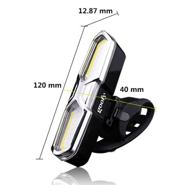 OUTAD 2018 HOT USB Rechargeable Front Rear Bicycle Light 46 COB LED Bike Taillight Waterproof Cycling Light Safety Warning Lamp