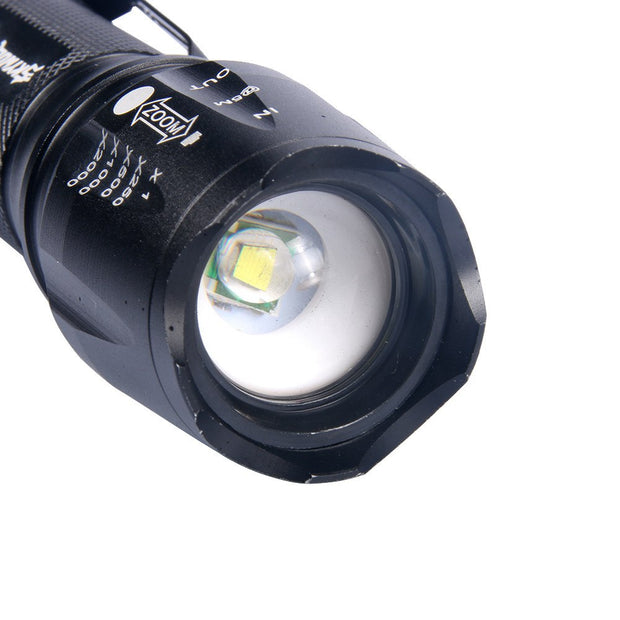 Outdoor Aluminum Flashlight XML-T6 5Modes Zoomable Flashlight For Night Cycling Accessaries Bicycle Headlight Bike Torch DZ50