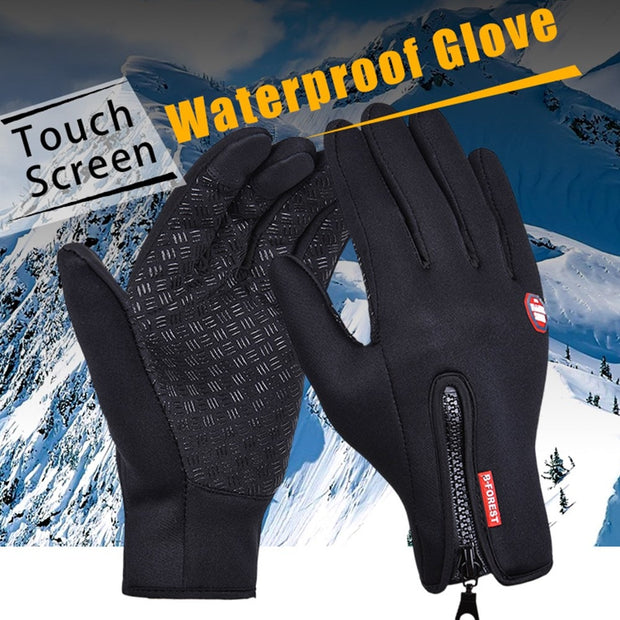 Outdoor Hilking Gloves Men Black Windstopper Velvet Warmer Waterproof Riding Tactical Glove Full Finger Climbing Gloves Women