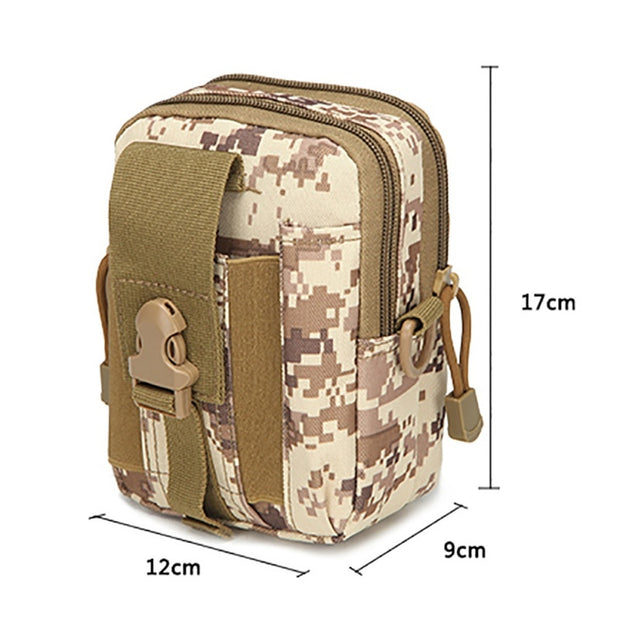 Outdoor MilitaryTactic Bag Nylon Waterproof Waist Bag Camouflage Sports Bags For Camping Hiking Molle Tactic Shoulder Bag