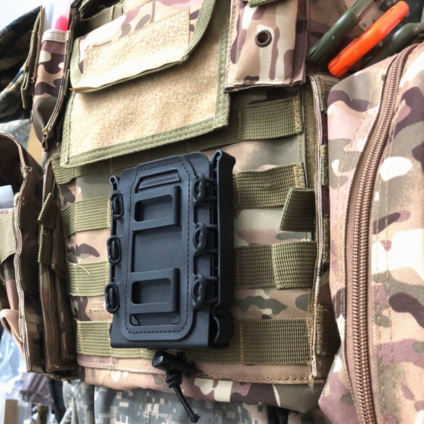 Outdoor Molle Tactical Single Rifle Mag Pouch Ajustable Strap Magazine Pouch Suit For 5.56mm/7.62mm Bullet