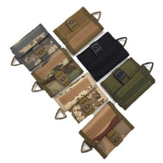 Outdoor Multifunction Camping Tactical Nylon Wallet Card Bag Army Waterproof Sports Purse Molle Card Pocket Key Hanging Bag