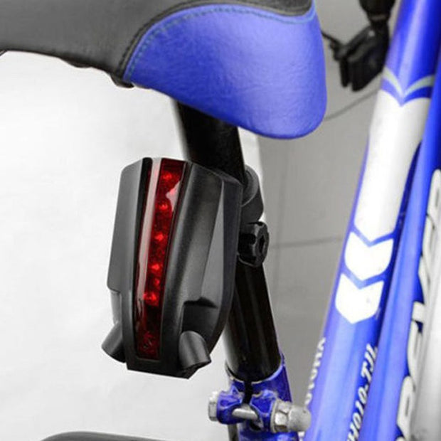 Outdoor Practical Cycling Rear Light Sporting Laser Road Projection Safety Warning Light Waterproof LED Bicycle Taillights