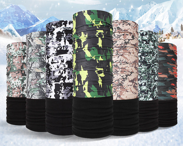 Outdoor Sports Winter Camping Hiking Neck Scarfs Cycling Bicycle Head Scarf Camouflage Magic Headband Face Mask Polar Bandana