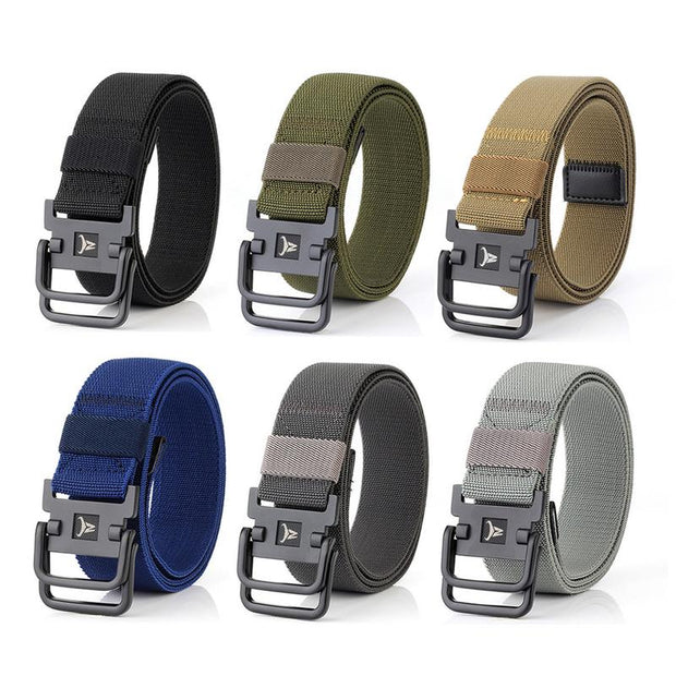 Outdoor Strategical Army Fan Double Ring Buckle Nylon Elastic Stretch Strong Belt Outdoors Lumbar Battle Molle Belts