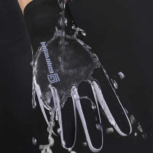 Outdoor Touch Screen Full-fingered Waterproof Windproof Warm And Fleece-lined Gloves For Riding And Skiing Gloves