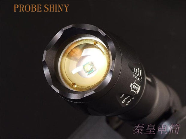PROBE SHINY 1600 Lumen Zoomable XM-L T6 LED 18650 AAA Flashlight Torch Zoom Lamp Light JULY17