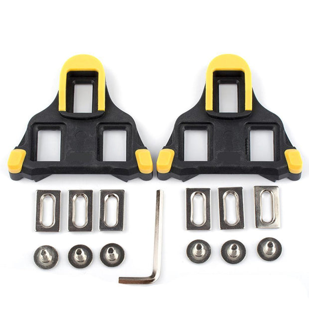 Pedal Road Bike Shoes Self-locking Piece Riding Equipment Yellow Red Outdoor Pedal Unisex Accessories 0 13kg Kit