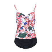Perimedes Women's Print Floral Surf Suit One Piece Prone Swim Swimwear Two Wpiece Beachwear One Piece G String Swimsuits#y45