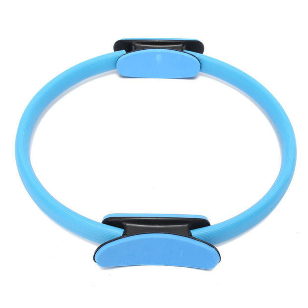 Pilates Ring Circle Resistance Exercise Workout Fitness GYM Yoga Ring Dual Band Blue