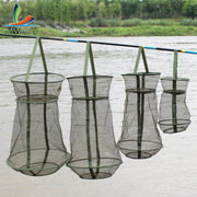 Portable 4 Sizes 3 Layer Fishing Net Round Folding Fish Shrimp Mesh Cage Cast Net Fishing Trap Network Fold Landing Net