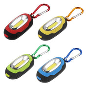 Portable Mini Keychain Pocket Torch 3 Modes COB LED Light Flashlight Lamp Multicolor Mini Torch With Button Battery