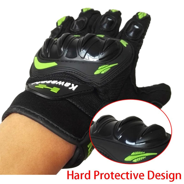 PowerPai 2018 Protective Motorcycle Gloves Full Finger MTB Bike Cycling Gloves Motocicleta Guantes Moto Protective Xxl Plus Size
