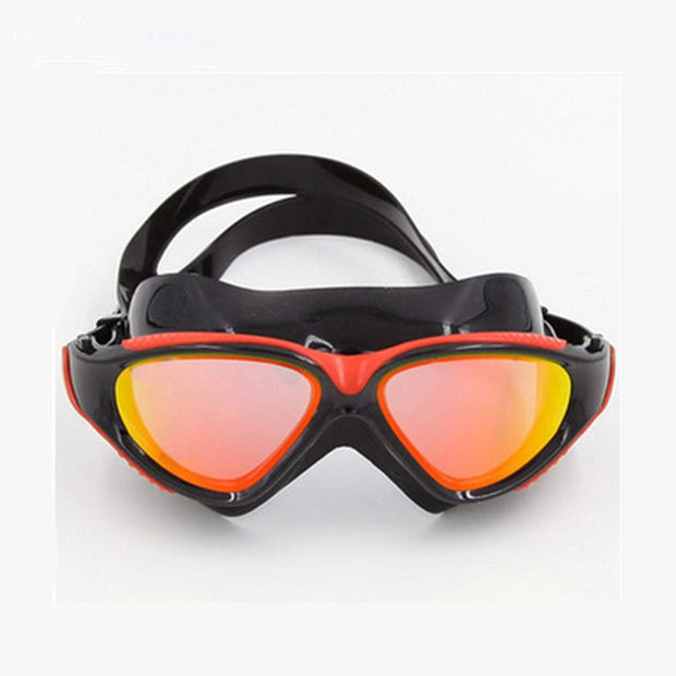 Professional Brand Large Frame Adjustable Sports Swimming Goggles For Men Women Waterproof Swim Anti Fog Water Swimming Glasses
