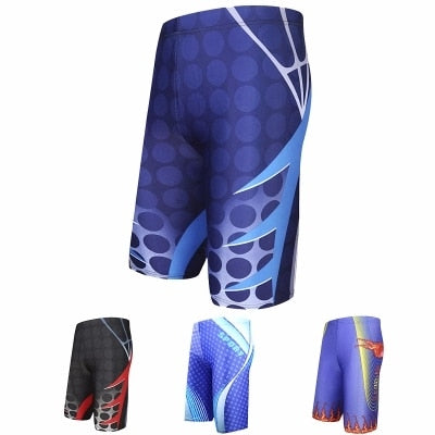 Professional Men's Swimming Trunks Swimsuits Gay Beach Boxer Sports Suit Surf Briefs Swim Suit Summer Swim Trunks