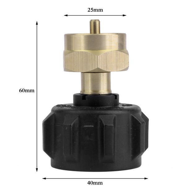 Professional Outdoor Picnic Barbecue BBQ Cooking Gas Propane Regulator Valve Propane Refill Adapter Stove Accessories Hot Sale