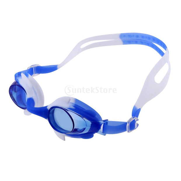 Professional Silicone Swimming Goggles Anti-fog Anti-UV Swim Eyewear Glasses With Earplug For Kids Children Boys Girls