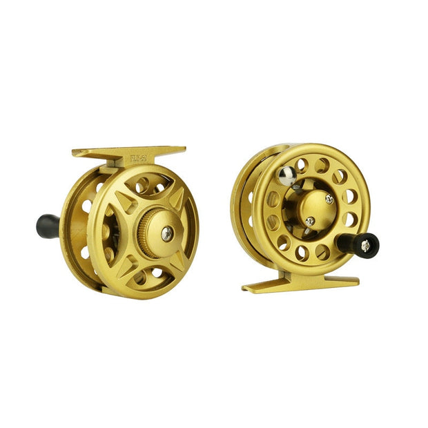 PureLeisure 2+1BB Fly Reel Large Arbor Aluminum Front Wheel 4/5/6 Fly Fishing Reel Hand-Changed Fishing Reel