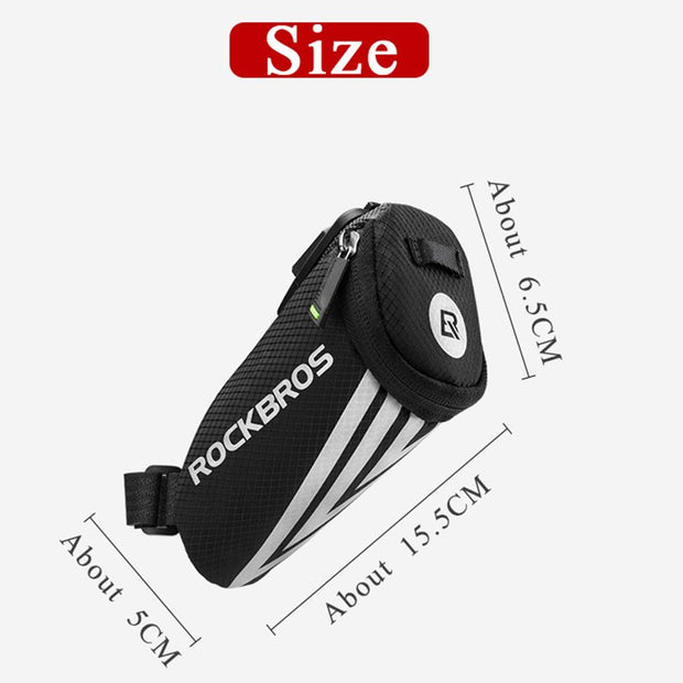 ROCKBROS Bicycle Cycling Mini Rear Bag Ultralight Portable Nylon Small Pocket Reflective MTB Seat Saddle Bike Bag Accessories