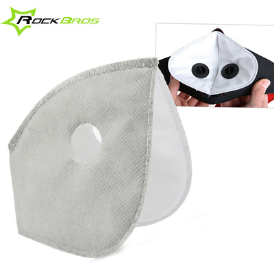 ROCKBROS Mask Filter Replacement Training Mask Lining Face Mask Activated Carbon Filter Bicycle Accessories Cycling Mask Filter