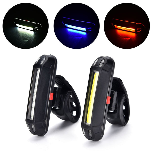 Rechargeable LED Waterproof USB Cycling Bike Tail Light Taillight MTB Safety Warning Bicycle Rear Seat Light Lamp Bycicle Light