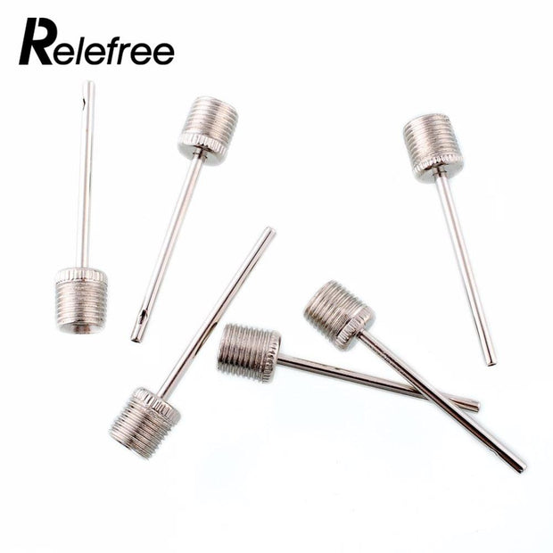 Relefree 100X Hot Air Pump Set Basketball Football Sports Pin Adapter Nozzel Inflatable Needles Stainless Steel Pin