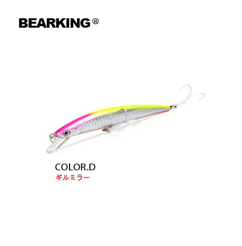 Retail Fishing Tackle Hot Model A+ Fishing Lures, Bearking Assorted Colors, 120mm 18g, Hard Baits
