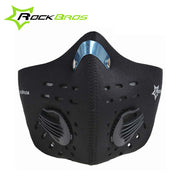 RockBros Activated Carbon Mask Anti-Dust Windproof Running Cycling Mask Half Face Outdoor Sports Bicycle Mask & Filter 8 Colors