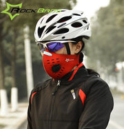RockBros Training Mask Anti-fog Face Mask &Filter MTB Bicycle Cycling Outdoor Sports 5 Layer Activated Carbon Dust Mask