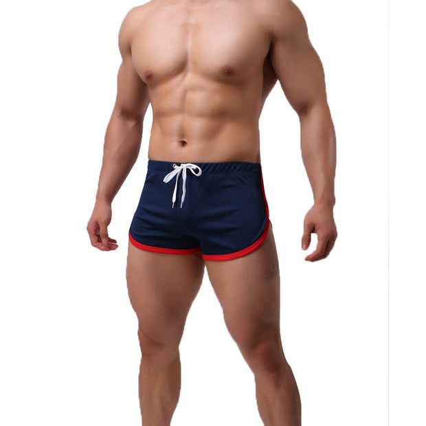 Running Shorts Jogging Men's Quick Dry Patchwork Drawstring Underwear Male Sport Shorts Shortpants Crossfit Gym Wear Athletic