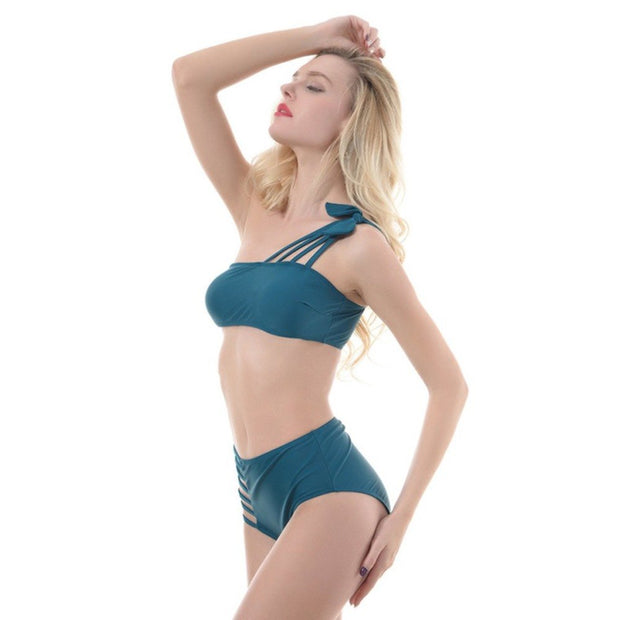 S-XL Women Sexy Bikini Set Summer Lady Swimwear Flattering Cut Out Bathing Suit Push Up Female Swimming Suit Brazilian Bikini