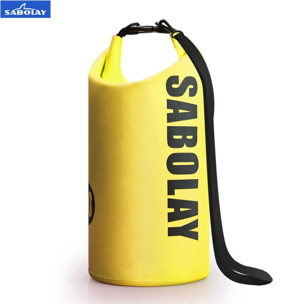 SABOLAY Outdoor PVC Waterproof Dry Sack Storage Bag Rafting Sports Kayaking Canoeing Sandy Beach Swimming Bag Travel Kits 10L
