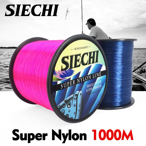 SIECHI 1000m Super Strong SIECHI Nylon Fishing Line 4LB - 28LB 3 Colors Japan Monofilament Main Line