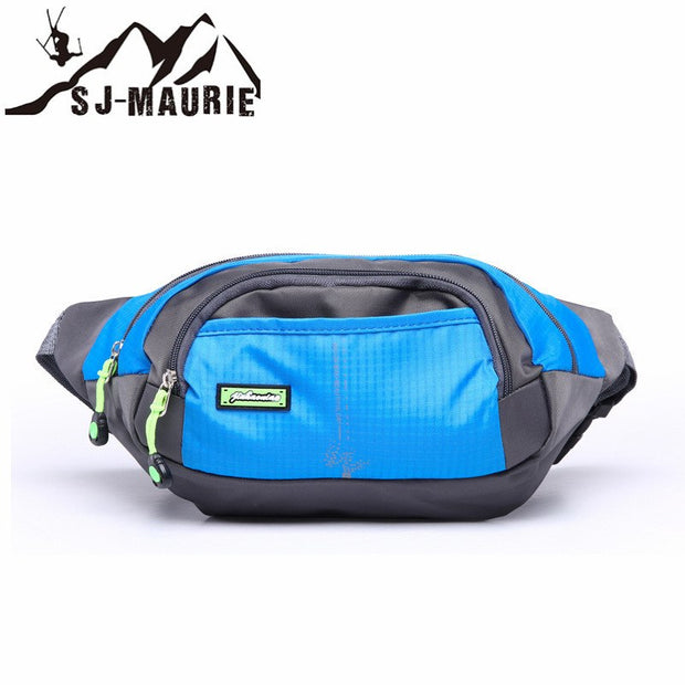 SJ-MAURIE Portable Running Waist Bag Outdoor Sports Men Woman Phone Holder Travel Hiking Bag Climbing Pack Waist Belt Pouch