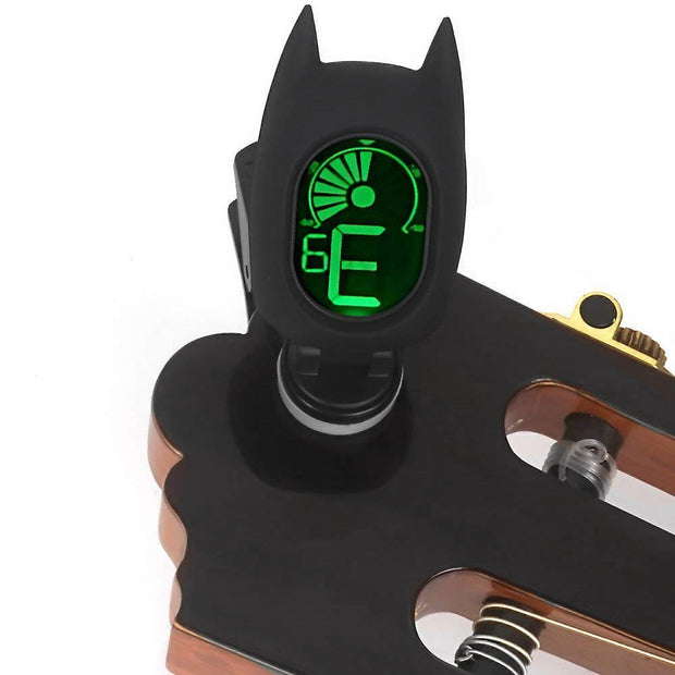 SWIFF Guitar Tuner Clip-On Cartoon With LCD Display For All Instruments With Bass, Ukulele,Violin Accessories (Black)